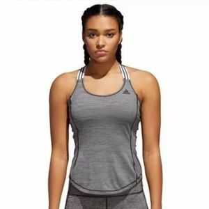 Adidas Crossback Tank Top Black/Gray Logo CY9276 W